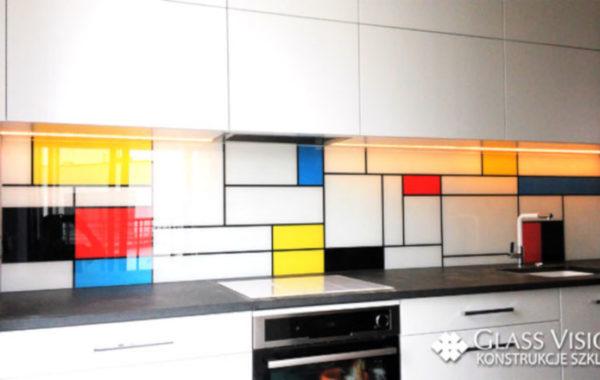 Kuchnia- szkło z grafiką